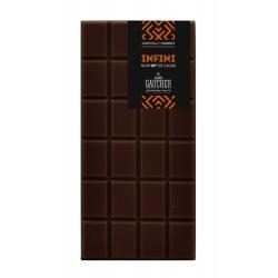 Tablette origine infini 99% de cacao chocolat Gaucher