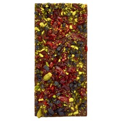 Tablette de chocolat crousty fruits - Maison Gaucher