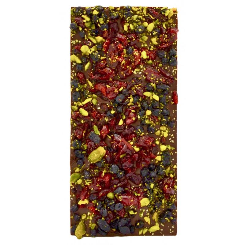 Tablette de chocolat crousty fruits - Maison Gaucher