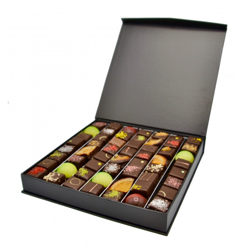 Boîte prestige remplis de bonbons chocolats - 460g - Maison Gaucher