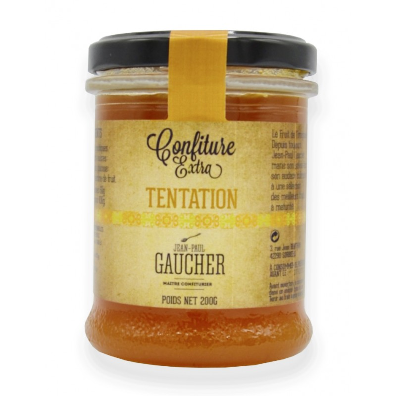 Confiture tentation - Fruit exotique - Maison Gaucher - Abricot, mangue, ananas, fruits de la passion et citron