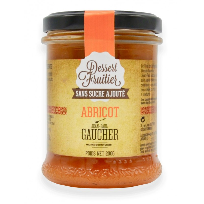 Confiture abricot sans sucre ajouté - Maison Gaucher