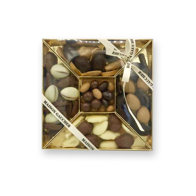 Coffret grignotine fritures / œufs fondants / enrobés - Maison Gaucher Chocolatier