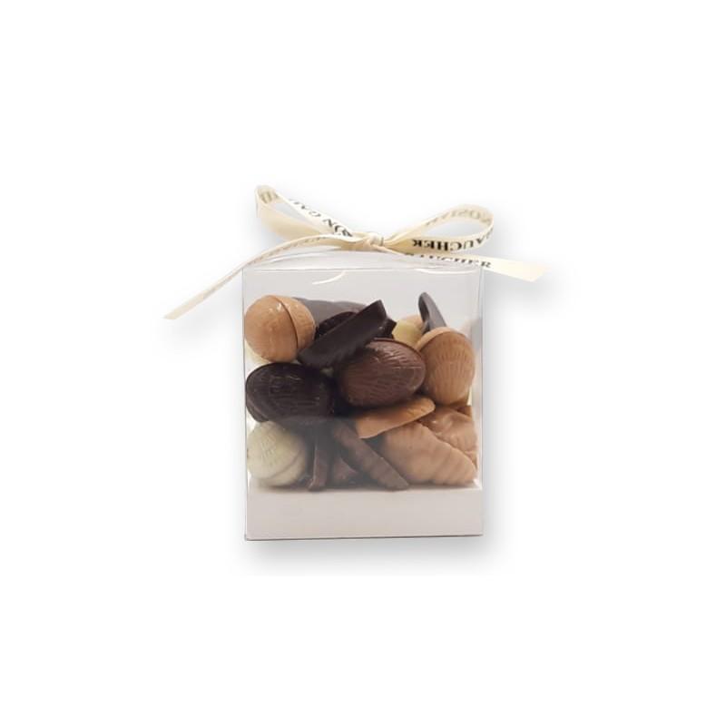 Cube mélange fritures/oeufs - packaging - Maison Gaucher Chocolatier