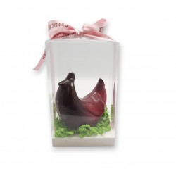 Coffret Poule design chocolat noir - packaging - Maison Gaucher Chocolatier