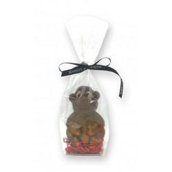 Singe chocolat noir - packaging - Maison Gaucher Chocolatier
