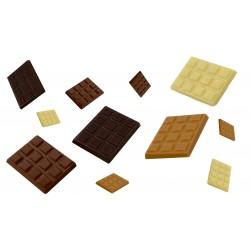 Tablette de chocolat de la réglette mini tablette (noir / lait / blanc et zéphyr)